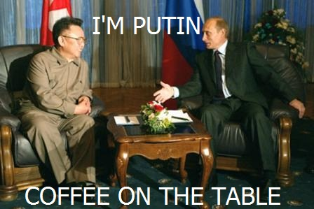 I'm putin coffee on the table meme